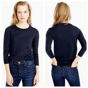 J Crew Merino Wool Tippi Sweater Blue 46725 $80